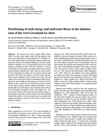 Partitioning of Melt Energy and Meltwate... by Van Den Broeke, M.