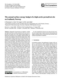 The Annual Surface Energy Budget of a Hi... by Westermann, S.