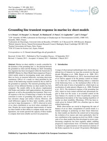 Grounding Line Transient Response in Mar... by Drouet, A. S.