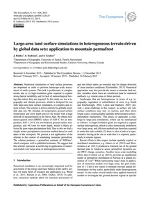 Large-area Land Surface Simulations in H... by Fiddes, J.