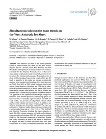 Simultaneous Solution for Mass Trends on... by Schoen, N.