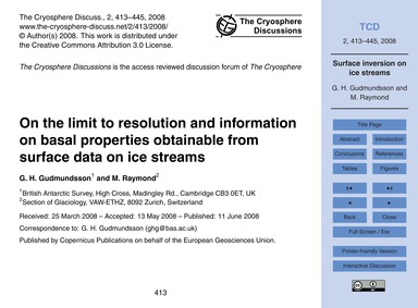 On the Limit to Resolution and Informati... by Gudmundsson, G. H.
