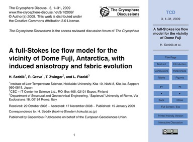 A Full-stokes Ice Flow Model for the Vic... by Seddik, H.