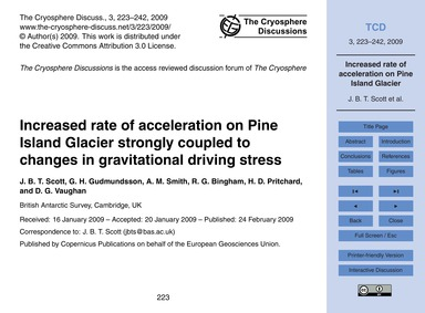 Increased Rate of Acceleration on Pine I... by Scott, J. B. T.