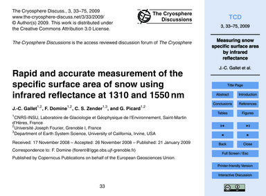 Rapid and Accurate Measurement of the Sp... by Gallet, J.-c.