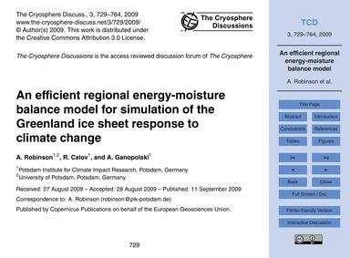 An Efficient Regional Energy-moisture Ba... by Robinson, A.