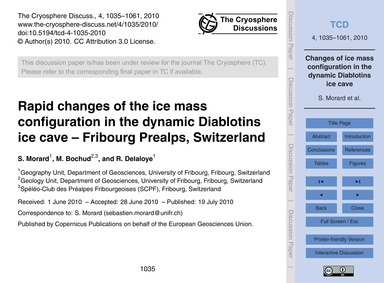 Rapid Changes of the Ice Mass Configurat... by Morard, S.