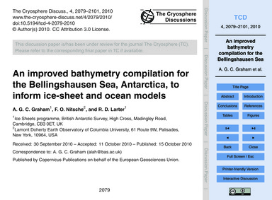 An Improved Bathymetry Compilation for t... by Graham, A. G. C.
