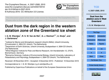 Dust from the Dark Region in the Western... by Wientjes, I. G. M.