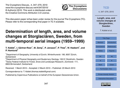Determination of Length, Area, and Volum... by Koblet, T.