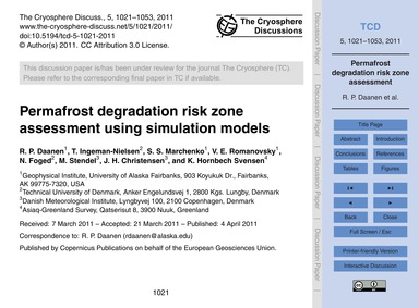 Permafrost Degradation Risk Zone Assessm... by Daanen, R. P.
