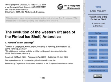 The Evolution of the Western Rift Area o... by Humbert, A.