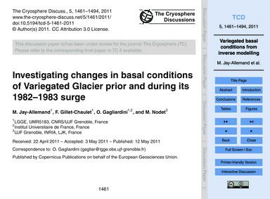 Investigating Changes in Basal Condition... by Jay-allemand, M.