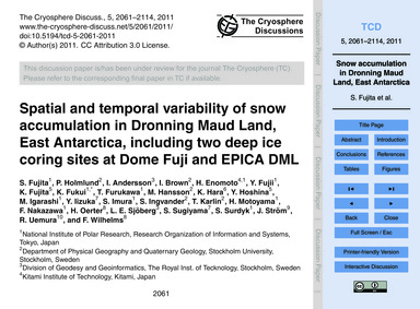 Spatial and Temporal Variability of Snow... by Fujita, S.