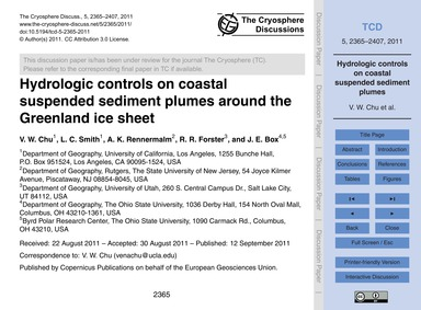 Hydrologic Controls on Coastal Suspended... by Chu, V. W.