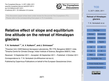 Relative Effect of Slope and Equilibrium... by Venkatesh, T. N.