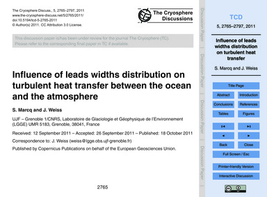 Influence of Leads Widths Distribution o... by Marcq, S.