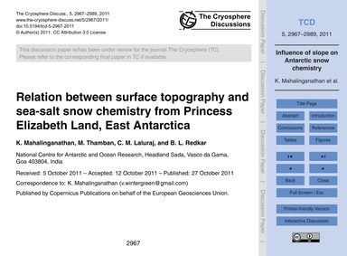 Relation Between Surface Topography and ... by Mahalinganathan, K.