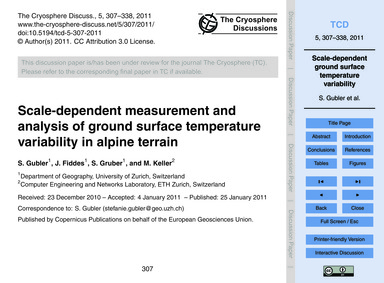 Scale-dependent Measurement and Analysis... by Gubler, S.