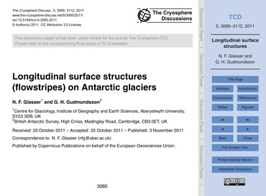 Longitudinal Surface Structures (Flowstr... by Glasser, N. F.