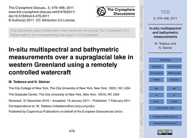 In-situ Multispectral and Bathymetric Me... by Tedesco, M.