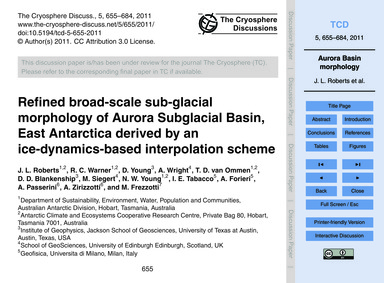 Refined Broad-scale Sub-glacial Morpholo... by Roberts, J. L.