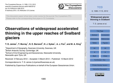 Observations of Widespread Accelerated T... by James, T. D.