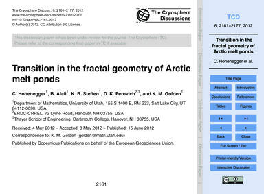 Transition in the Fractal Geometry of Ar... by Hohenegger, C.