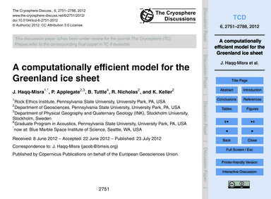 A Computationally Efficient Model for th... by Haqq-misra, J.