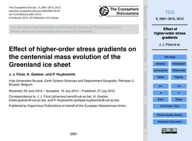 Effect of Higher-order Stress Gradients ... by Fürst, J. J.
