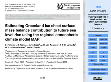 Estimating Greenland Ice Sheet Surface M... by Fettweis, X.