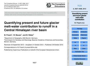 Quantifying Present and Future Glacier M... by Prasch, M.
