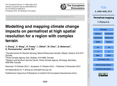Modelling and Mapping Climate Change Imp... by Zhang, Y.