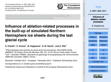 Influence of Ablation-related Processes ... by Charbit, S.