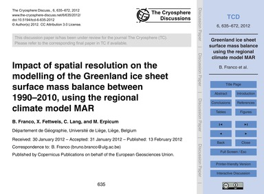 Impact of Spatial Resolution on the Mode... by Franco, B.