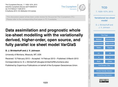 Data Assimilation and Prognostic Whole I... by Brinkerhoff, D. J.
