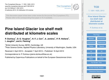 Pine Island Glacier Ice Shelf Melt Distr... by Dutrieux, P.
