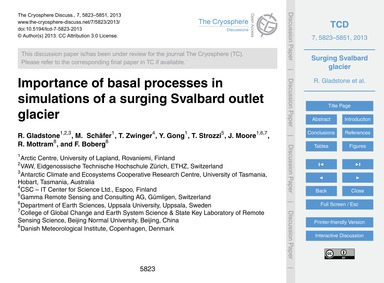 Importance of Basal Processes in Simulat... by Gladstone, R.