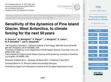 Sensitivity of the Dynamics of Pine Isla... by Seroussi, H.