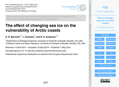 The Effect of Changing Sea Ice on the Vu... by Barnhart, K. R.
