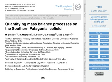 Quantifying Mass Balance Processes on th... by Schaefer, M.