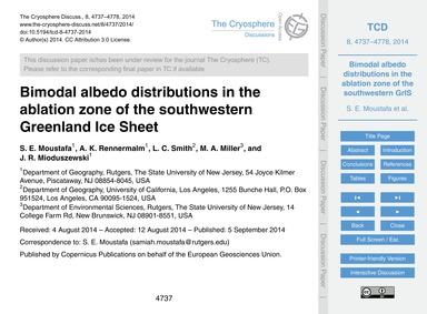Bimodal Albedo Distributions in the Abla... by Moustafa, S. E.