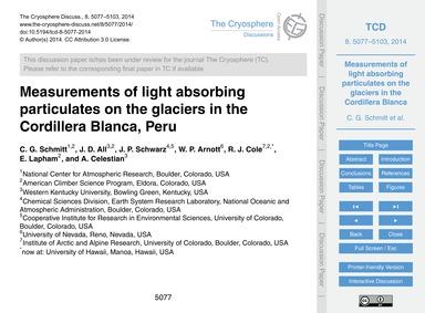 Measurements of Light Absorbing Particul... by Schmitt, C. G.