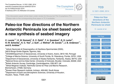 Paleo-ice Flow Directions of the Norther... by Lavoie, C.