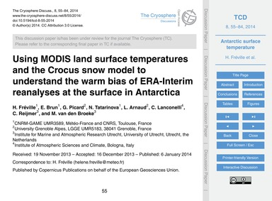 Using Modis Land Surface Temperatures an... by Fréville, H.