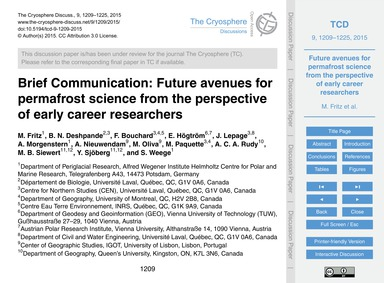 Brief Communication: Future Avenues for ... by Fritz, M.