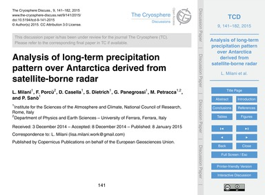 Analysis of Long-term Precipitation Patt... by Milani, L.