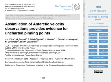 Assimilation of Antarctic Velocity Obser... by Fürst, J. J.