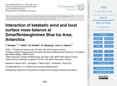 Interaction of Katabatic Wind and Local ... by Zwinger, T.