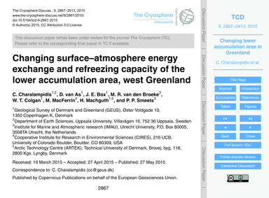 Changing Surface–atmosphere Energy Excha... by Charalampidis, C.